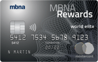 Image of MBNA Rewards World Elite