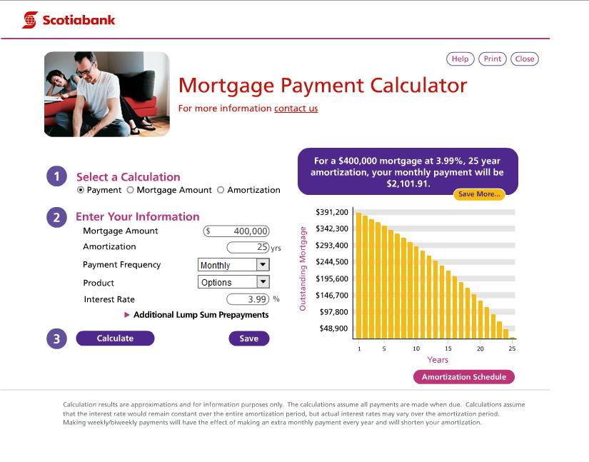 mortgage calculator battle  cibc vs scotiabank
