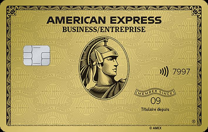 Carte en Or pour PME avec primes American Express