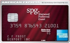 Carte de crédit entreprise Starwood Preferred Guest d'American Express