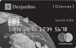 Desjardins Odyssey World Elite Mastercard