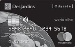 Desjardins Odyssée World Elite Mastercard