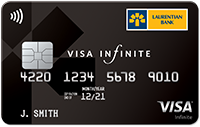 Image of Laurentian Bank Visa Infinite card