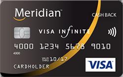 Image of Meridian Visa Infinite* Cash Back Card