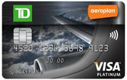 Carte Visa Platine TD Aéroplan