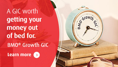 Image of Earn up to 30% at the end of 4.5 years – BMO Growth GIC*