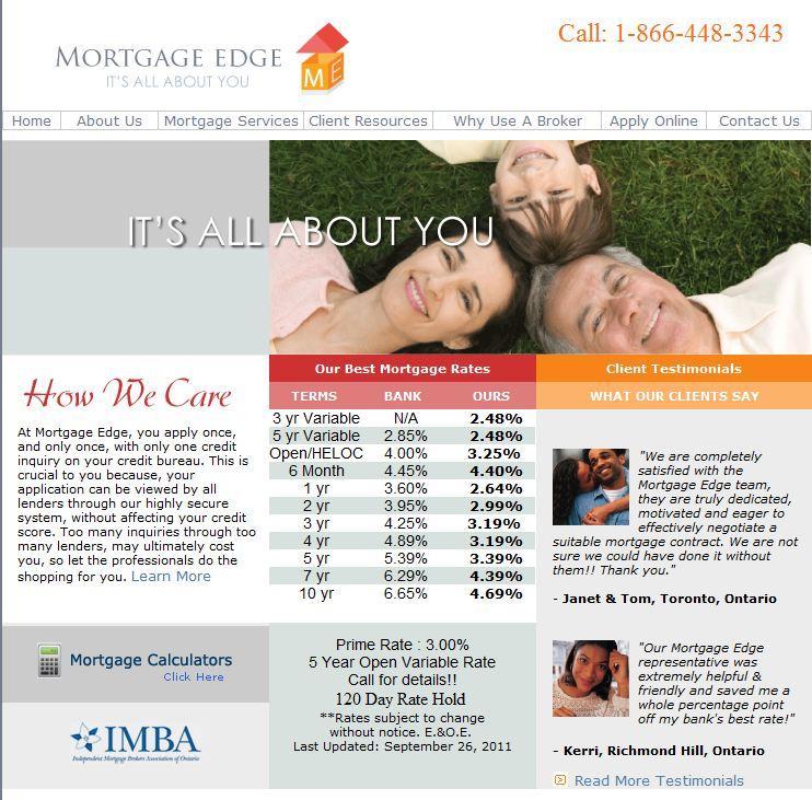 mortgage edge mortgage rates