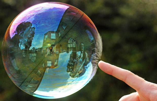 Bubble bursting [Richard Heeks/Barcroft Media]