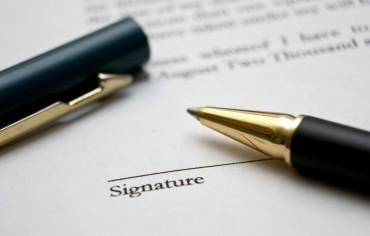 status certificate - signature