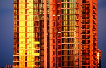 Toronto Condo Building at Sunset