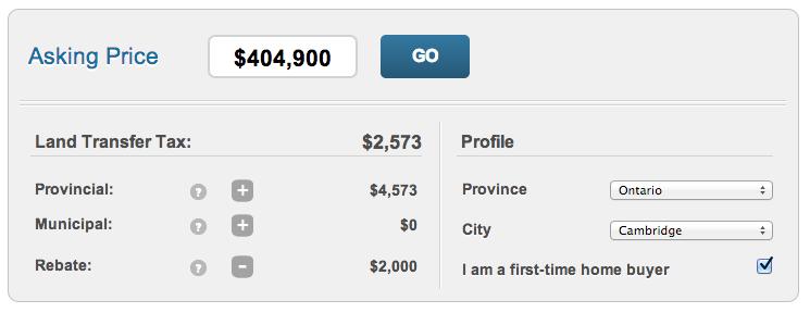 Ontario Land Transfer Tax Rebate