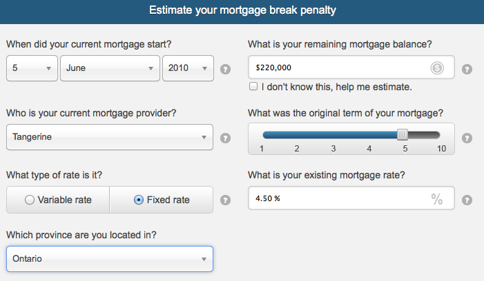 What Is The Penalty If I Break My Mortgage With Tangerine Ratehub Stunning Bmo Term Life Insurance Quote