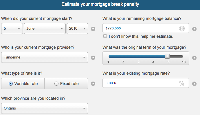 What Is The Penalty If I Break My Mortgage With Tangerine Ratehub Cool Bmo Term Life Insurance Quote