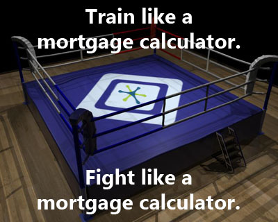Mortgage Calculator Boxing Ring