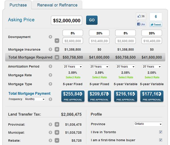 Oprah`s mortgage calculation